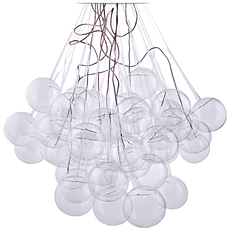 Sculptural light from glass bulbs and LEDs, designed by Daria Burlińska