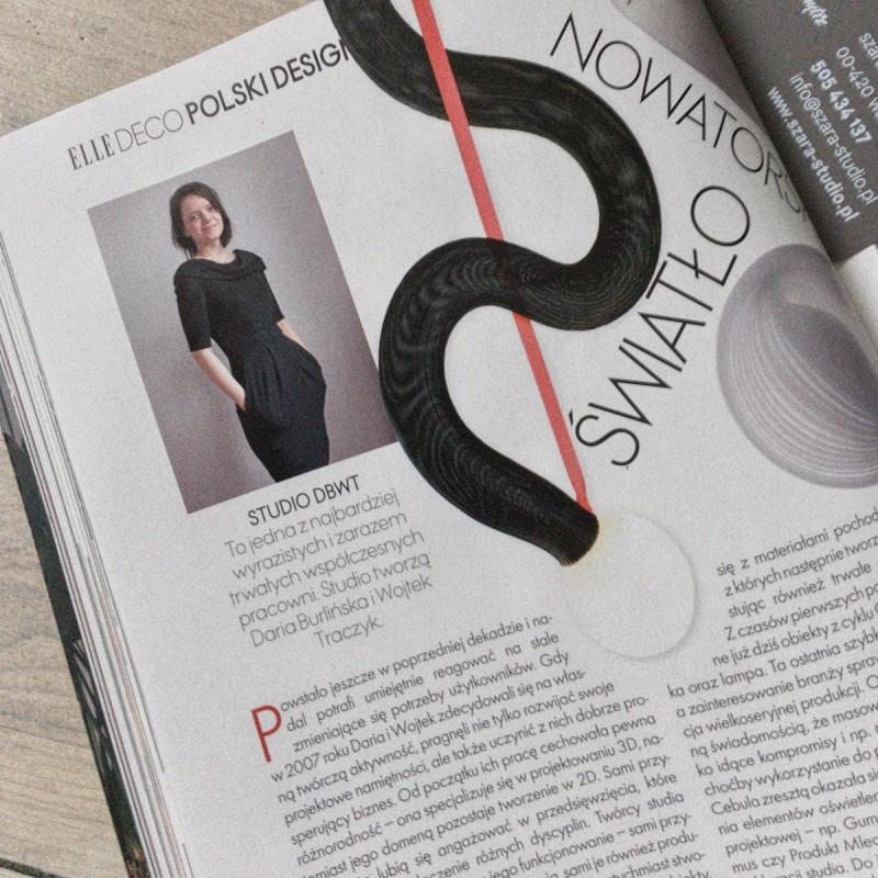 Designer Daria Burlińska from DBWT.PL – on the pages of «Elle Deco», 02-03/2020